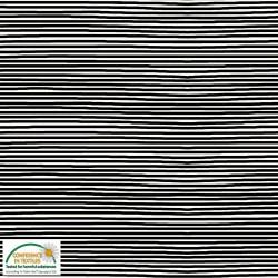 STRIPE JERSEY KNIT - BLACK/CREAM 160cm wide