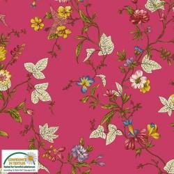 Avalana Jersey 160cm Flowers - PINK