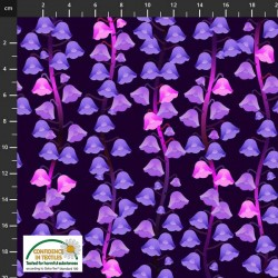 Avalana Jersey 160cm Wide Bell Flowers - PURPLE