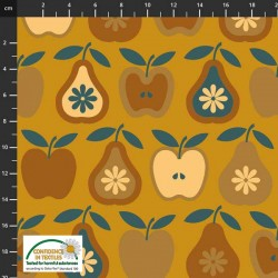 Avalana Jersey 160cm Wide Fruit - GOLD
