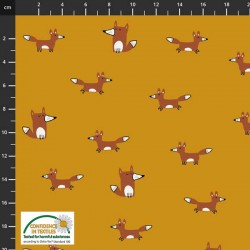 Avalana Jersey 160cm Wide Foxes - GOLD
