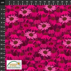 Avalana Jersey 160cm Wide Field of Flowers - PINK