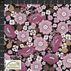 Avalana Jersey 160cm Wide Flowers - PURPLE
