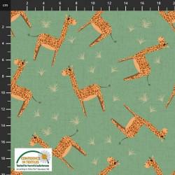 Tossed Giraffe - GREEN