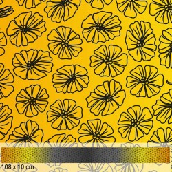 Small Flower Ombre - YELLOW