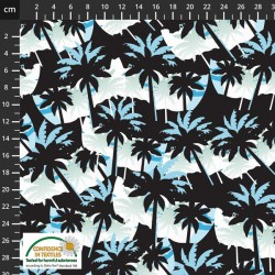 Avalana Sweat 150cm NonBrushed Palm Trees - WHITE