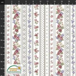 Trellis Flowers - BROWN