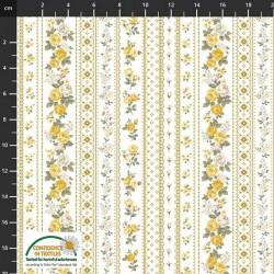 Trellis Flowers - GOLD
