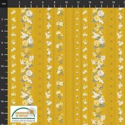 Tossed Trellis Flowers - GOLD
