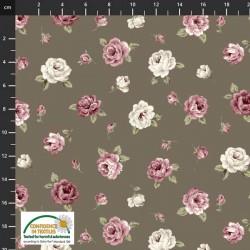 Tossed Medium Flowers - BROWN