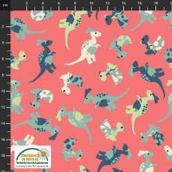 Tossed Baby Dinosaurs - PINK