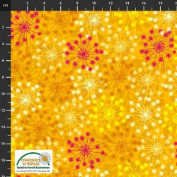 Abstract Flowers - YELLOW