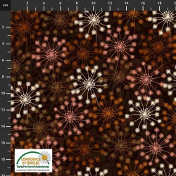 Abstract Flowers - BROWN