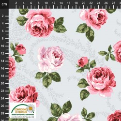 Feature Large Roses - GREY