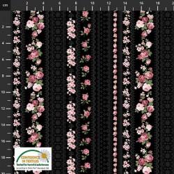 Trellis Roses - BLACK
