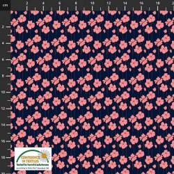 Avalana Cotton Poplin 150cm Wide Flower Field - BLACK
