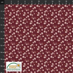 Avalana Cotton Poplin 150cm Wide Tiny Flowers - DK PURPLE