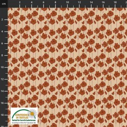 Avalana Cotton Poplin 150cm Wide Small Flowers - NATURAL