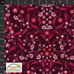 Avalana Cotton Poplin 150cm Wide Vines - BLACK