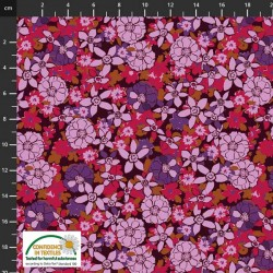 Avalana Cotton Poplin 150cm Wide Stacked Flowers - MULTI