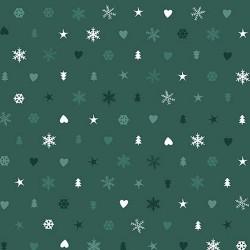 Snowflakes, Hearts & Trees - GREEN