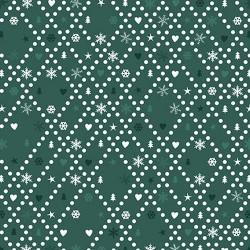 Christmas Lattice - GREEN
