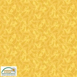 Fern tone on tone yellow