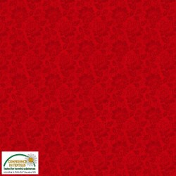 Floral red tone on tone