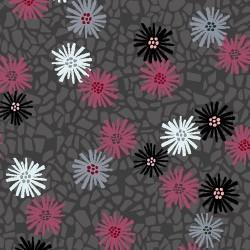 Flowers - DK GREY