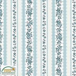 Small wallpaper stripe aqua & white