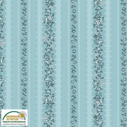 Small wallpaper stripe aqua