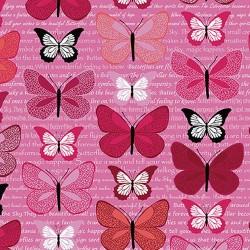 Butterflies on Text - PINK