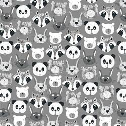 Animal Faces - GREY