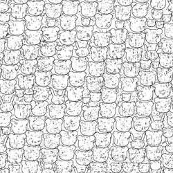 Panda Outlines - BLUE