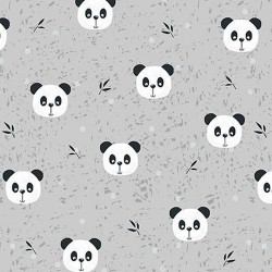 Panda faces - GREY