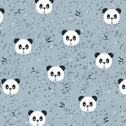 Panda faces - BLUE