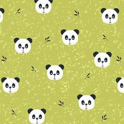 Panda Faces - GREEN