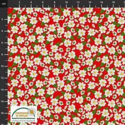 Multi Flowers - RED/WHITE