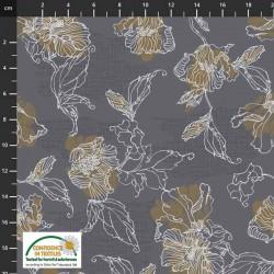 Flower Outlines - DK GREY