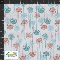Flowers and Roots - LT GREY/TEAL