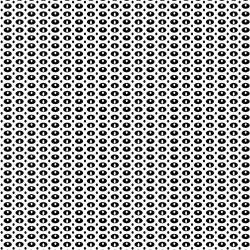 Oval Dots - BLACK/WHITE