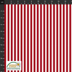Large Stripes - RED