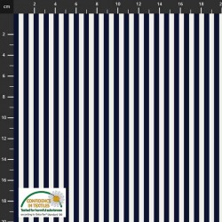 Large Stripes - NAVY
