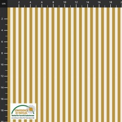 Large Stripes - MUSTARD