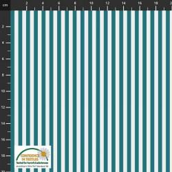 Large Stripes - DK TEAL