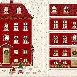 House Advent Calendar Panel (60cm) - WHITE/GOLD