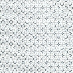 TINY GEO STARS - WHITE/SILVER