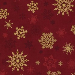 SNOWFLAKES - RED/GOLD