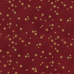 TINY TOSSED STARS - RED/GOLD
