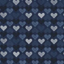 HEARTS - DK BLUE/SILVER